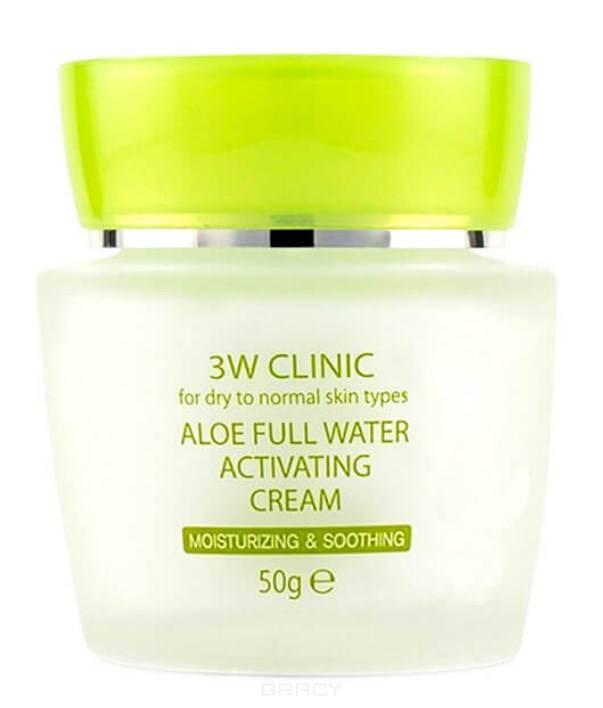 Купить 3W Clinic, Крем для лица с экстрактом алоэ вера Aloe Full Water Activating Cream, 50 мл