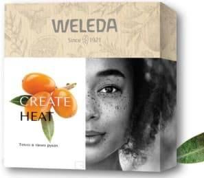 Weleda, Подарочный набор Create Heat: Облепиховое тонизирующее молочко для тела 200 мл + Облепиховый тонизирующий гель для душа 200 мл + Облепиховое питательное масло для тела 10 мл