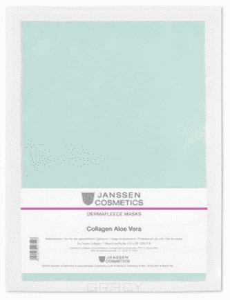 Janssen, Коллаген с алоэ (зеленый), 1 лист janssen collagen aloe vera коллаген с алоэ 1 зеленый лист