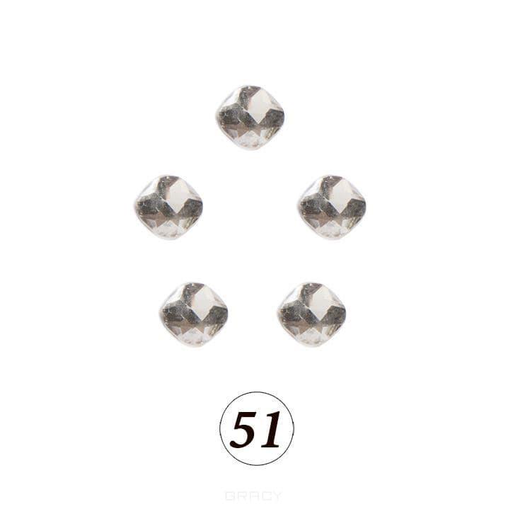Купить Planet Nails, Цветные фигурные стразы в ассортименте (76 видов), 5 шт/уп Планет Нейлс №51