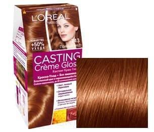 LOreal, Краска дл волос Casting Creme Gloss (37 оттенков), 254 мл 743 Прнный нтарьОкрашивание волос Casting, Preference, Prodigy, Excellence<br><br>