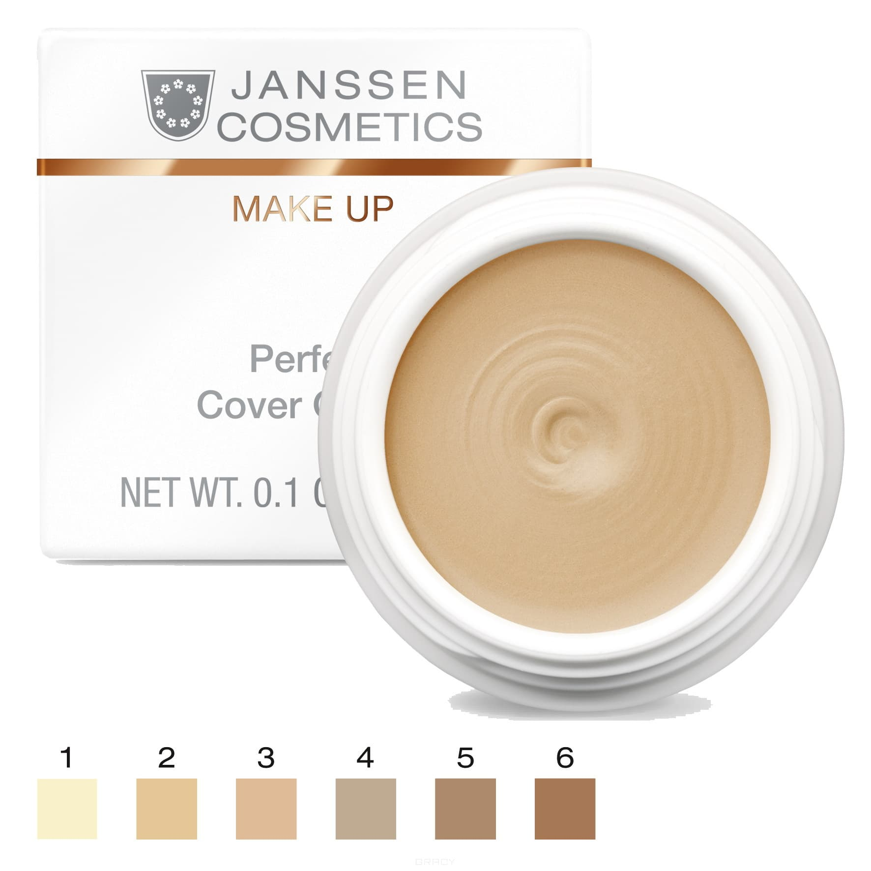 Janssen, Тональный крем - камуфляж Perfect Cover Cream (5 оттенков), 5 мл l a girl тональный крем perfecting liquid makeup buff 29 5 мл