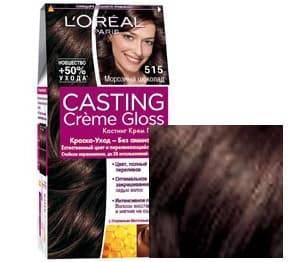 LOreal, Краска для волос Casting Creme Gloss (37 оттенков), 254 мл 515 Морозный шоколадОкрашивание<br><br>