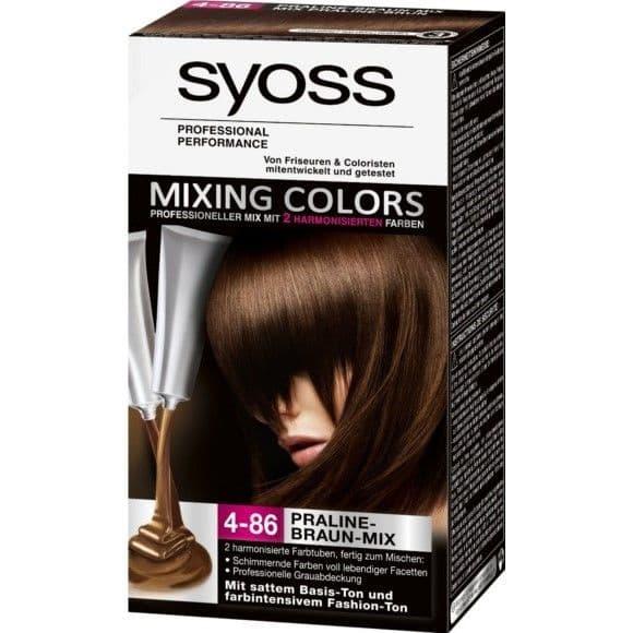 Syoss, Краска для волос Mixing Colors, 30/30 мл (13 оттенков) 4-86 Пралине МиксОкрашивание<br><br>