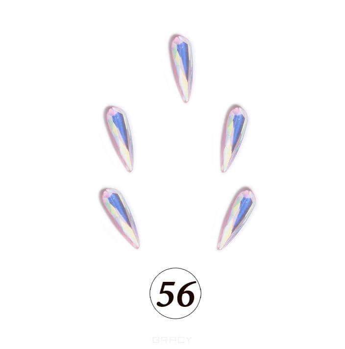 Купить Planet Nails, Цветные фигурные стразы в ассортименте (76 видов), 5 шт/уп Планет Нейлс №56