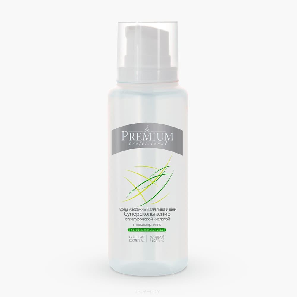 Купить Premium, Крем массажный для лица и шеи Суперскольжение с гиалуроновой кислотой, 200 мл
