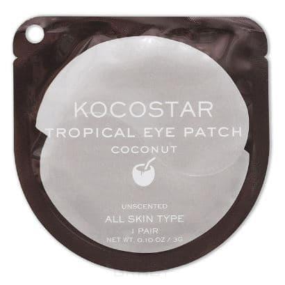 Купить Kocostar, Гидрогелевые патчи для глаз Тропические фрукты Кокос Tropical Eye Patch Coconut, 2 патча/1 пара, 3 гр