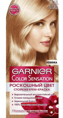 Garnier, Краска для волос Color Sensation, 110 мл (25 оттенков) 9.13 Кремовый перламутрОкрашивание<br><br>