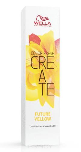 Фото - Wella, Оттеночная краска для ярких акцентов Color Fresh Create, 60 мл (13 оттенков) Больше чем желтый FUTURE YELLOW оттеночная краска для ярких акцентов color fresh create 60 мл 13 оттенков