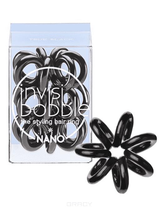 Invisibobble, Резинка для волос NANO True Black черный в упаковке с подвесом, 3 шт invisibobble резинка для волос original true black 3 шт черная