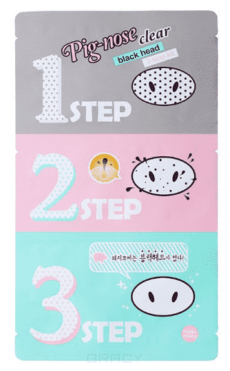 Holika , Pig Nose 3 Step Clear Black Head Kit -х ступенчатый набор средств для очистки пор, 7 г Холика , 1 шт,