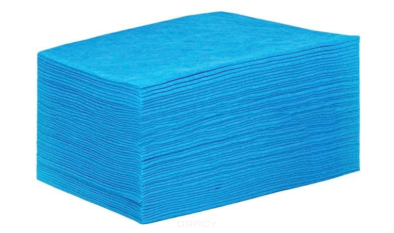 Igrobeauty, Простыня 70 х 200 см, 20 г./м2 материал SMS, 50 шт (2 цвета), Голубой, 50 шт
