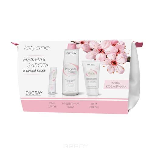 Набор Ictyane в косметичке: Мицеллярная вода + Крем для рук + Увлажняющий стик для, 200 мл + 50 мл + 3 гр