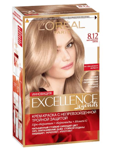 Купить L'Oreal, Краска для волос Excellence Creme (32 оттенка), 270 мл 8.12 Мистический блонд