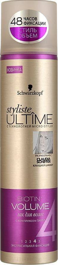 Schwarzkopf Professional, Лак для волос Ultime Biotin Volume, 300 млУкладка<br><br>