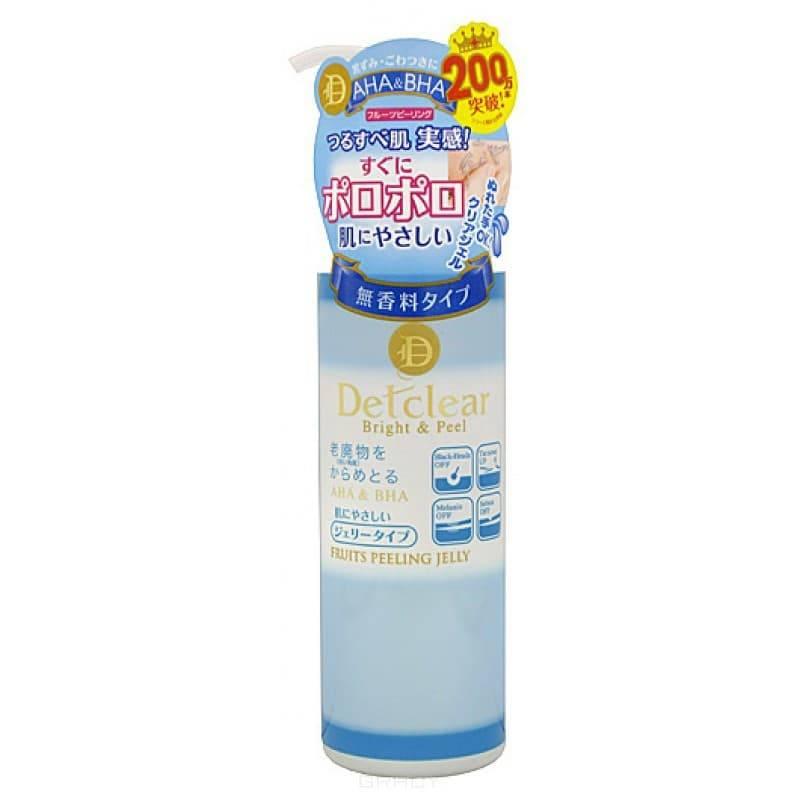 Meishoku, Очищающий пилинг-гель с AHA и BHA с эффектом легкого скатывания Detclear AHA&BHA Peeling Gel (low ph), 180 мл meishoku гель для лица с aha