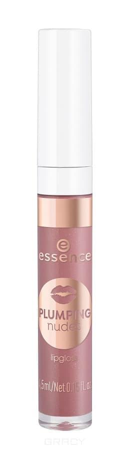 Купить Essence, Блеск для губ Plumping Nudes Lipgloss, 4.5 мл (7 тонов) №04, розовое золото