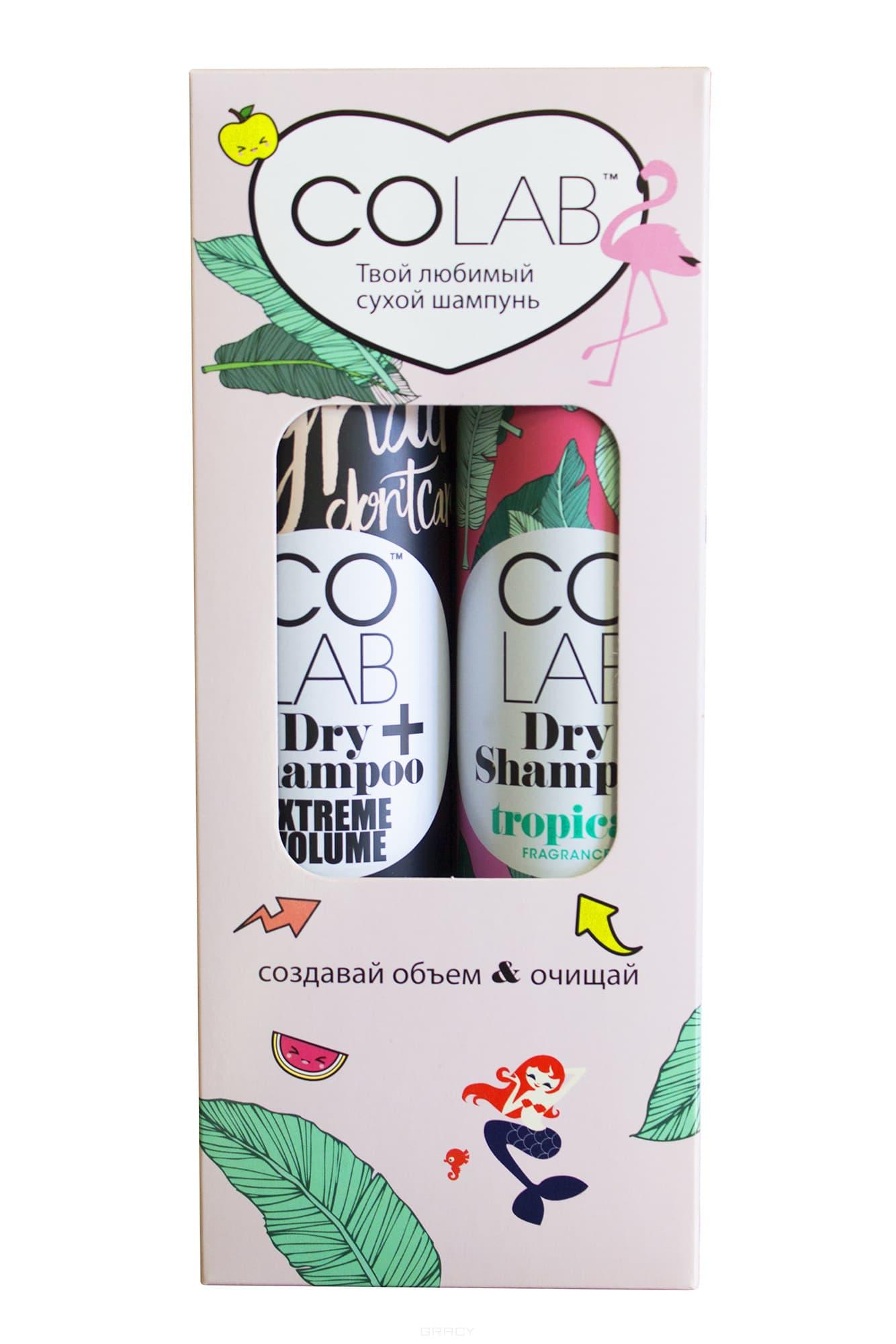 CoLab, Набор сухих шампуней Extreme Volume 200 мл + Tropical 200 мл