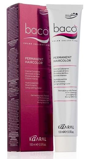 Kaaral, Крем-краска для волос Baco Permament Haircolor, 100 мл (106 оттенков) 10.16 очень-очень светлый блондин пепельно-розовый  - Купить
