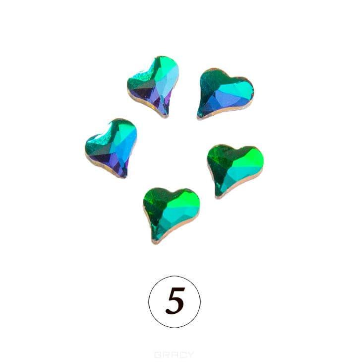 Planet Nails, Цветные фигурные стразы в ассортименте (76 видов), 5 шт/уп Планет Нейлс №5  - Купить