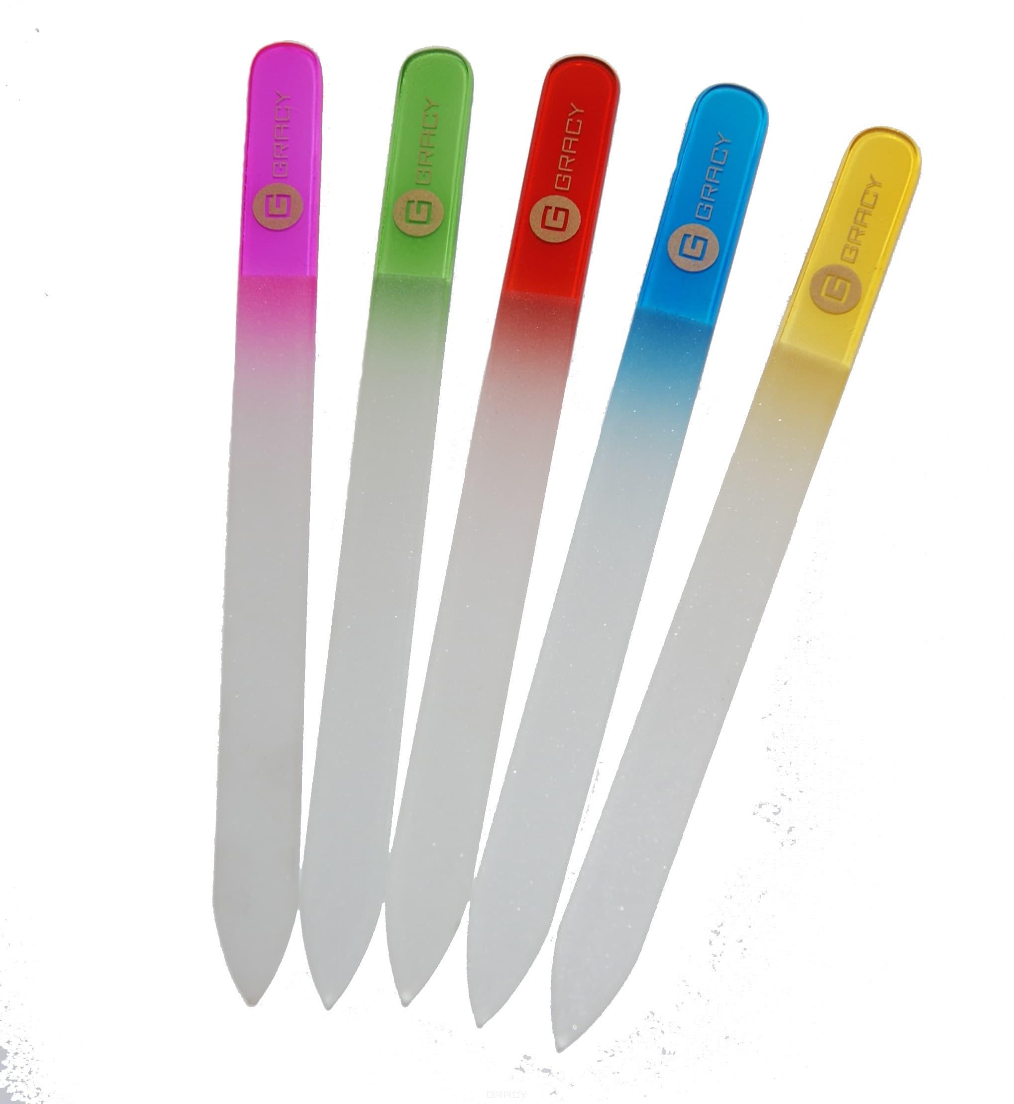 Стеклянная пилка в чехле (5 цветов)Стеклянная пилка для натуральных ногтей в чехле. 5 цветов.<br>