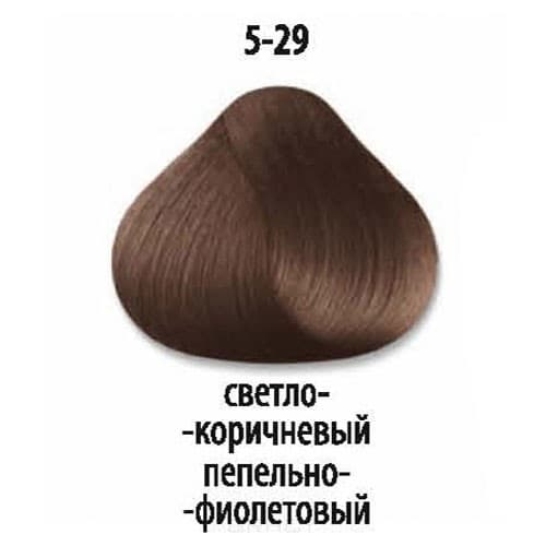 Constant Delight, Стойкая крем-краска для волос Delight Trionfo (63 оттенка), 60 мл 5-29 Светлый коричневый пепельный фиолетовыйОкрашивание<br>Краска для волос Constant Delight Trionfo - это уникальное средство, способное придать волосам здоровый вид и блеск.<br>  <br>Крем-краска Трионфо от Констант Делайт наосится на невымытые сухие волосы. Выдерживается средство на волосах до 45 минут. <br> Constan...<br>