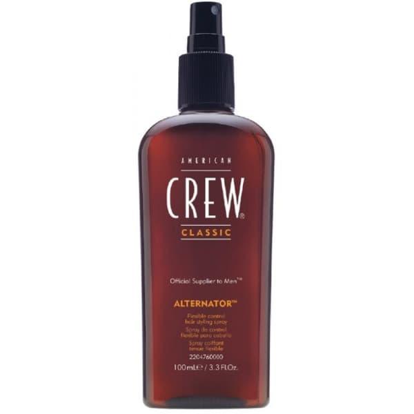 Спрей для волос переменной фиксации Classic Alternator, 100 млСпрей для стайлинга подвижной фиксации American Crew Alternator   это уникальное предложение для мужчин, предпочитающих естественный вид волос и желающих придать прядям экстравагантную неординарную форму. Использование продукта позволит создавать укладки различной степени сложности и с легкостью менять их в течение дня.&#13;<br>&#13;<br>Спрей American Crew Alternator равномерно ложиться на поверхность волос, не склеивает и не утяжеляет, не оставляет неприятной липкости или жирного неаккуратного блеска. Волосы выглядят абсолютно натурально и естественно, при этом становятся удивительно мягкими и пластичными. Легко принимают требуемую форму укладки и держат ее в течение всего дня.&#13;<br>&#13;<br>Особенностью спрея American Crew Alternator является его особенная мягкая фиксация, которая позволяет при желании легко и быстро менять первоначальной образ. Такая возможность не оставить равнодушным мужчин, ведущих активный образ жизни. За считаные минуты аккуратная повседневная укладка сможет стать креативным модным с...<br>