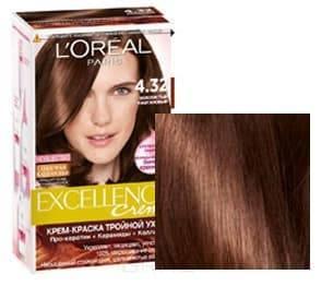 Купить L'Oreal, Краска для волос Excellence Creme (32 оттенка), 270 мл 4.32 Золотистый каштановый
