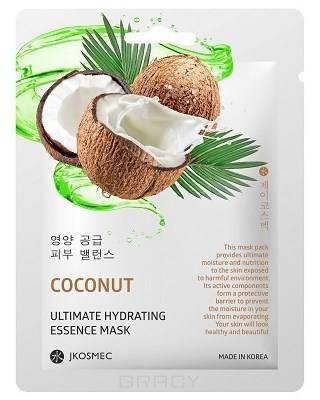 Купить Jkosmec, Ежедневная увлажняющая маска c экстрактом кокоса Coconut Ultimate Hydrating Essence Mask, 25 мл
