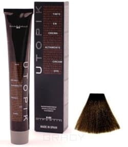Купить Hipertin, Utopik Platinum Ипертин Краска для волос Ипертин (палитра 103 цвета), 60 мл 6/00+U темно-русый интенсивный