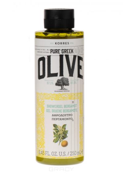 Korres, Гель для душа Бергамот, 250 мл korres korres pure greek olive showergel honey гель для душа с медом 250 мл