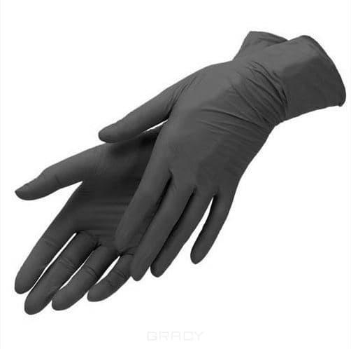 Перчатки нитриловые, черные Планет Нейлс, 100шт/уп