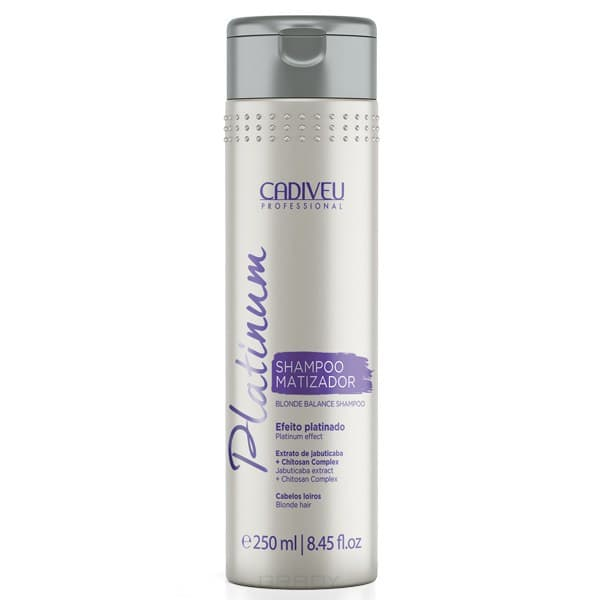 Cadiveu Professional, Тонирующий шампунь Platinum Home Blonde Balance Shampoo