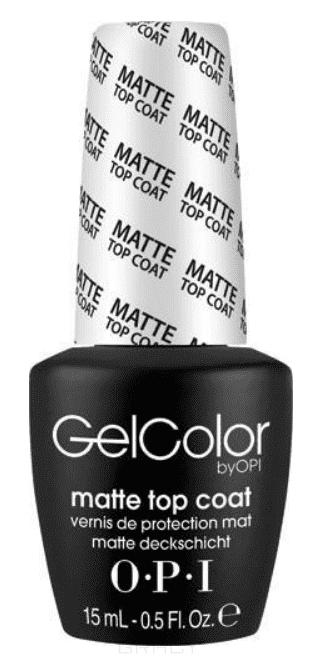 OPI, Верхнее покрытие для создания матового эффекта GelColor, 15 мл opi gelcolor top coat верхнее покрытие 15 мл