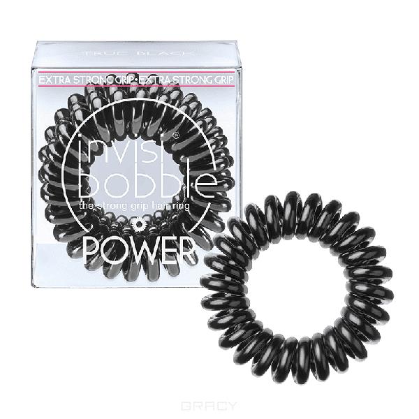 Резинка для волос черная Power True Black (3 шт.)Резинка-браслет Invisibobble   модный и стильный аксессуар, который всегда будет у вас под рукой. Invisibobble покорил многих девушек по всему миру своей функциональностью и яркостью палитры. С такой резинкой можно сделать множество интересных причесок и невозможно остаться незамеченной. &#13;<br>Резиночка Invisibobble устроена так, что не повреждает волосы Не оставляет следов перегиба на ваших волосах после применения Удобство использования при занятиях спортом или на отдыхе Резинка водоотталкивающая, легко снимается/надевается, в то же время крепко держит созданную прическу Восстанавливает свою изначальную форму Может использоваться как браслет Используя Invisibobble не возникнет ощущение головной боли, потому что она не тянет за собой отдельные волоски благодаря своей оригинальной форме.&#13;<br> &#13;<br>Подходит для всех типов волос<br>
