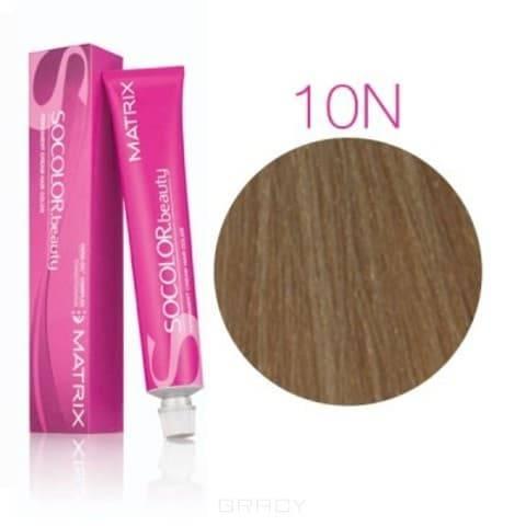 Matrix, Крем краска для волос SoColor.Beauty профессиональная, 90 мл (палитра 133 цветов) SOCOLOR.beauty 10N очень очень светлый блондин