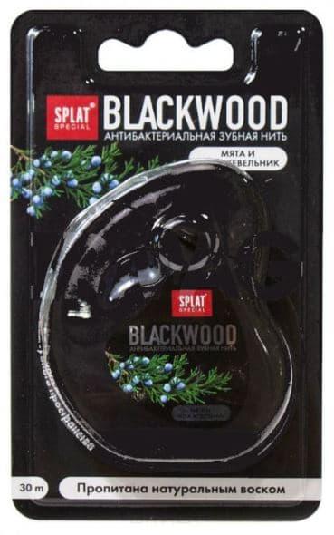 Splat, Зубная нить Черное дерево, объемная, 30 м цена