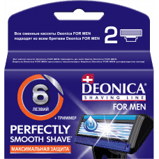 Купить Deonica, Сменные кассеты для бритья FOR MEN 6 лезвий, 2 шт