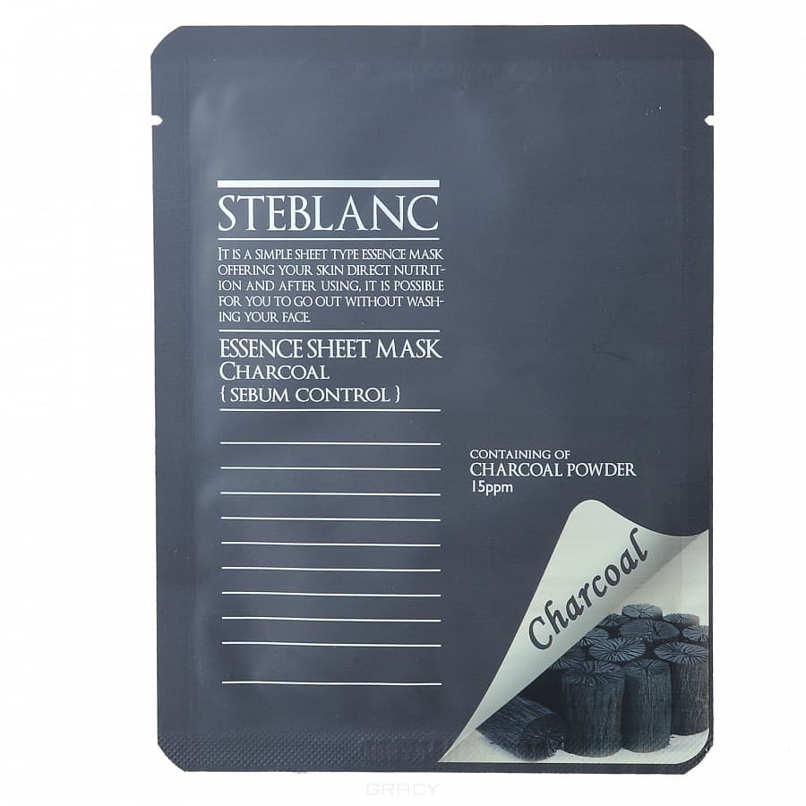 Steblanc, Маска для лица Абсорбирующая на основе Древесного угля, 45EA-22444 steblanc essence sheet mask маска для лица абсорбирующая на основе древесного угля маска для лица абсорбирующая на основе древесного угля