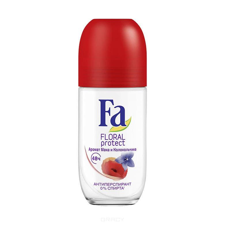 Fa, Шариковый дезодорант Floral Protect Maк и колокольчик, 50 млДезодоранты дл женщин Фа<br><br>
