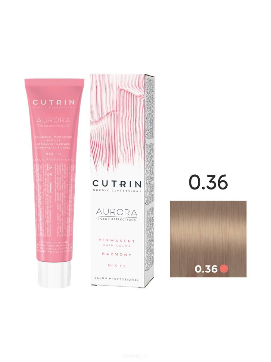 Cutrin, Кутрин краска для волос Aurora Аврора (SCC-Reflection) (палитра 97 оттенков), 60 мл 0.36 Холодный песок cutrin кутрин краска для волос aurora аврора scc reflection палитра 97 оттенков 60 мл 0 03 прикосновение солнца