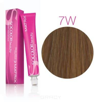 Matrix, Крем-краска для волос SoColor.Beauty, 90 мл (117 оттенков) SOCOLOR.beauty 7W теплый блондинОкрашивание волос SoColor, Color Sync, оксиды, обесцвечивание<br><br>
