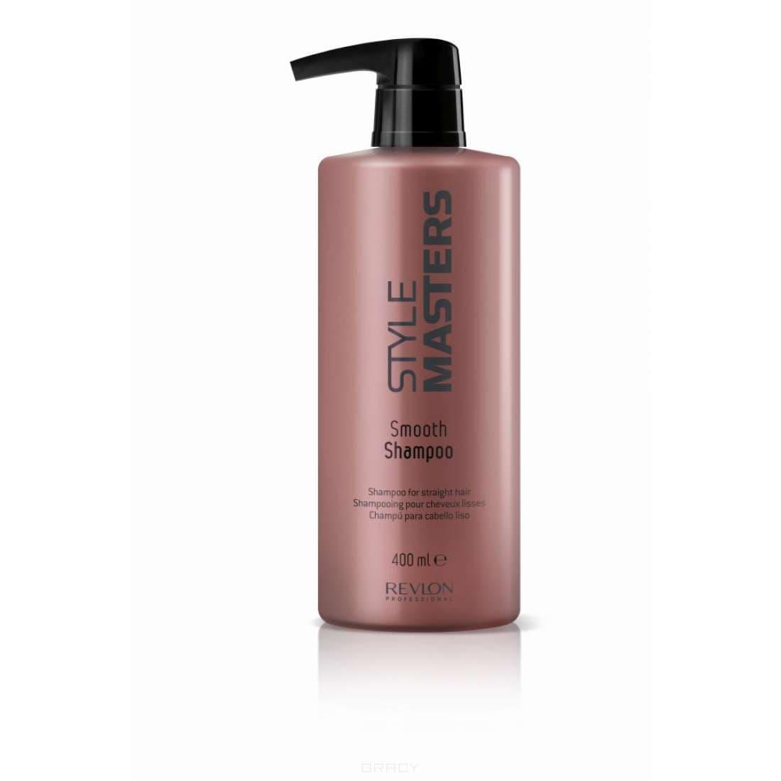 Шампунь для гладкости волос Style MastersRevlon Professional Style Masters Smooth Shampoo Шампунь для гладкости волос создан и разработан для активного и тщательного ухода за прямыми волосами. Данный продукт от компании Revlon Professional отлично способствует увлажнению волос, придавая им отличный объём и естественный натуральный блеск. Специальные активные компоненты, входящие в состав шампуня Ревлон Style Masters Smooth тщательно и надёжно защищают волосы от агрессивного воздействия окружающей среды и солнца, обеспечивают правильное питание волос и кожи головы, быстро устраняют такую проблему, как спутывание волос. Шампунь для гладкости волос Revlon Professional наделяет волосы здоровьем и дарит им гладкость, прекрасное сияние и жизненную энергию. Шампунь для гладкости волос Revlon Профессионал Style Masters быстро и легко справится с самыми непослушными и проблемными волосами.<br>