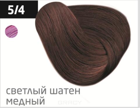 Купить OLLIN Professional, Перманентная стойкая крем-краска с комплексом Vibra Riche Ollin Performance (120 оттенков) 5/4 светлый шатен медный
