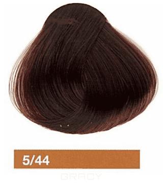 Lakme, Перманентная крем-краска Collage, 60 мл (99 оттенков) 5/44 Светлый шатен медный яркий