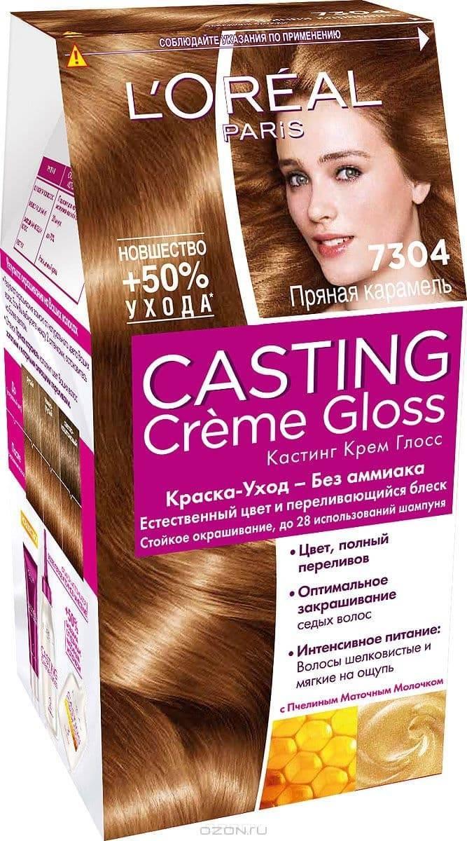 LOreal, Краска для волос Casting Creme Gloss (37 оттенков), 254 мл 7.304 Пряная карамельОкрашивание волос Casting, Preference, Prodigy, Excellence<br><br>