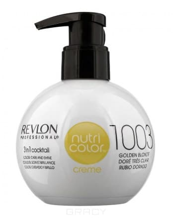 Revlon, Крем-краска для волос 3 в 1 Nutri Color Creme, (52 оттенка) 1003 Очень светлый золотой kemira серьги kemira kbo 215 3 rg золотой