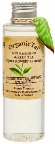 Купить Organic Tai, Массажное масло для лица Face Massage Oil Green Tea, Jojoba & Sweet Almond , 120 мл