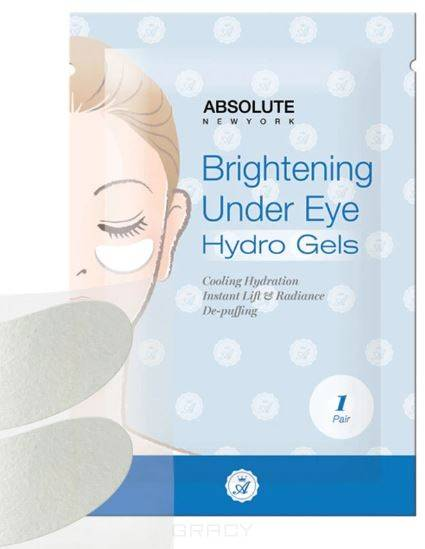 Absolute New York, Гидрогелевые патчи для глаз Under Eye Hydro Gels Осветляющие лиерак вокруг глаз купить