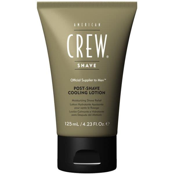 Лосьон охлаждающий после бритья Post Shave Cooling Lotion, 125 млПосле процедуры бритья кожа требует особого внимания: многие мужчины отмечают воспаления, микротравмы, порезы и сухость. Для устранения этих проблем следует использовать лосьон после бритья American Crew Post Shave Cooling Lotion, обладающий приятным охлаждающим эффектом.&#13;<br>  &#13;<br>&#13;<br>  &#13;<br>Формула American Crew Post Shave Cooling Lotion работает одновременно и как увлажнитель, так и успокаивает разраженную кожу, придавая ей мягкость и гладкость. Входящие в состав лосьона минеральные вещества восстанавливают защитные функции кожи, возвращая ей упругость, и устраняют воспаления. Экстракт семян тыквы регулирует деятельность сальных желез, восстанавливает повреждения и питает кожу влагой. Входящее в состав формулы масло чайного дерева обладает противовоспалительным и антисептическим действием. Ментол охлаждает лицо, успокаивает кожу после бритья и придает ей свежесть.&#13;<br>  &#13;<br>&#13;<br>  &#13;<br>Способ применения:использовать сразу после бритья или как ежедневный увлажняющий лосьон&#13;<br>  &#13;<br>&#13;<br>  &#13;<br>Состав:Water (Aqua...<br>